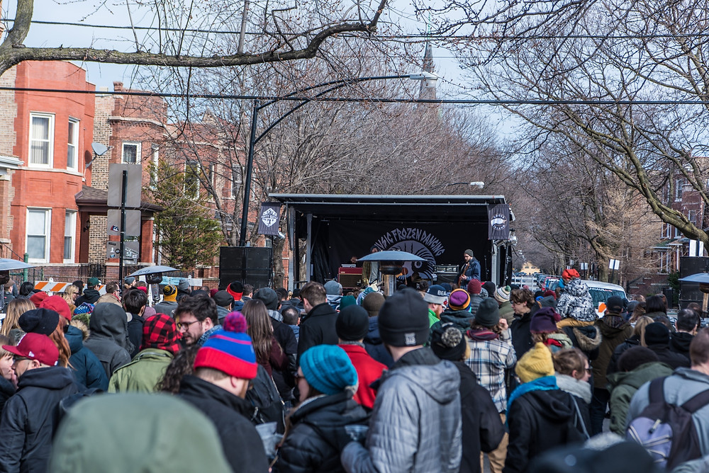 goose island concert during a chicago winter