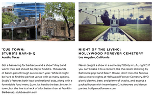 Awesome live music venues from Austin texas and Los angeles california