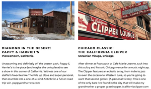 Awesome live music venues from california and chicago