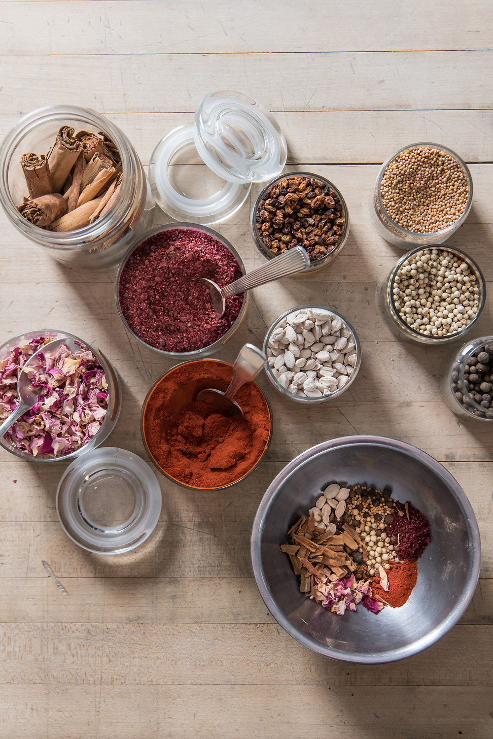 A variety of spices for different meals