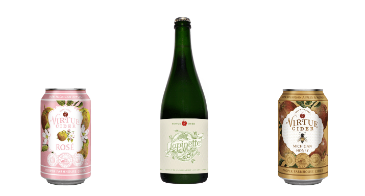 A collection of hard ciders from Goose Island's Virtue Cider