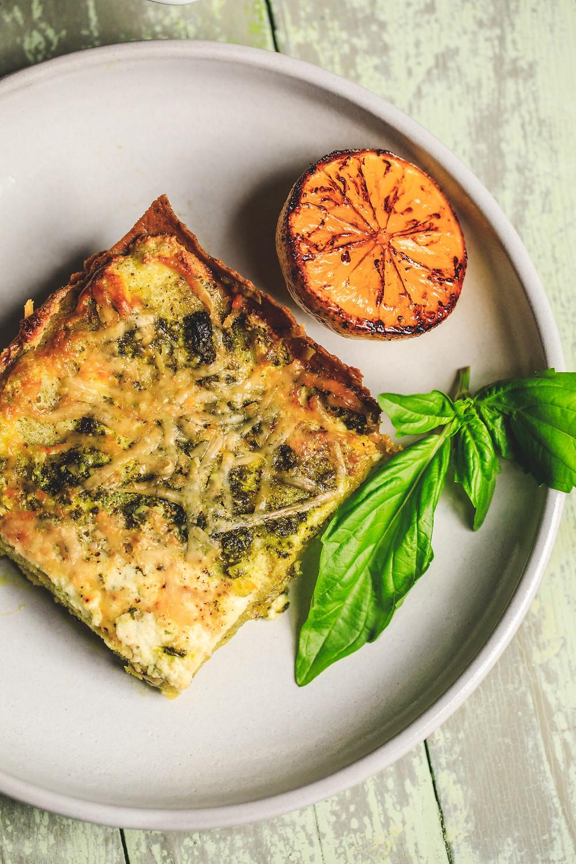 Pistachio lasagna dinner