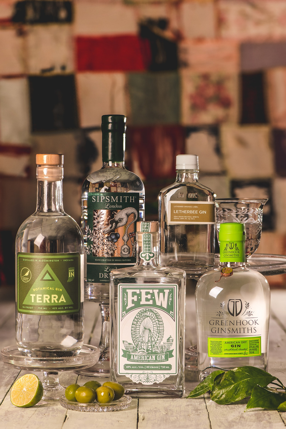 A fancy collection of essential gins to stock in your liquor cabinet