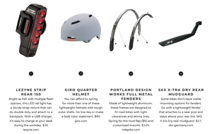 Here are some great bike accessories