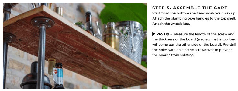A DIY project to make your own liquor cart