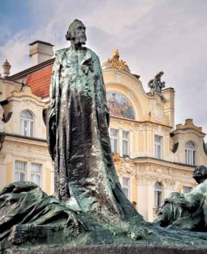 Jan Hus statue in prague