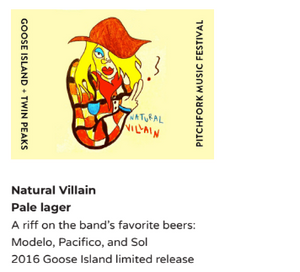 Twin Peaks the band teaming up with Goose Island to present their own craft beer