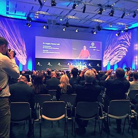Bildregie bei der Eröffnung der Gamescom in Köln mit Angela Merkel