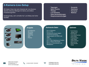 Kostengünstiges Live-Kamera-Setup für bis zu 3 Kameras