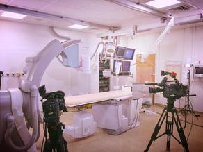 Dokumentation einerHerzkatheter-Operation in Leeds |England | Großbritannien