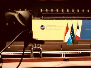 Bürgerforum in der Philharmonie Luxemburg mitEmmanuel Macron