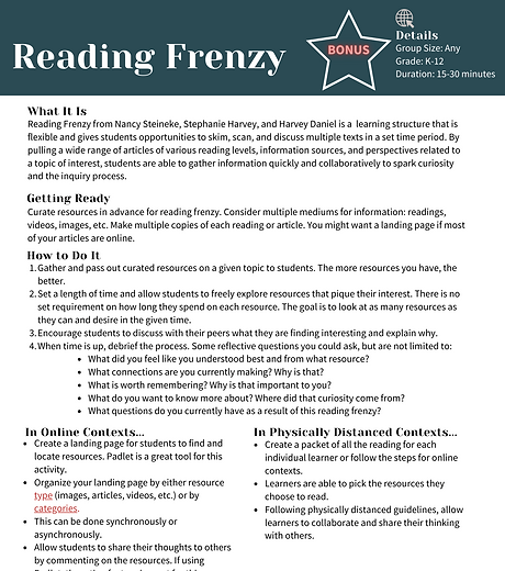 _Bonus_ Reading Frenzy for Connecting To
