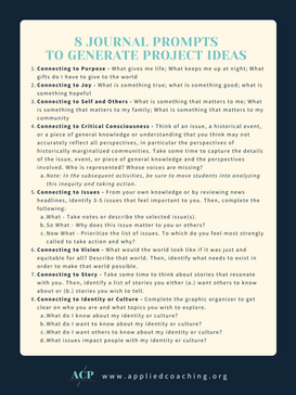 8 Journal Prompts to Generate Project Ideas