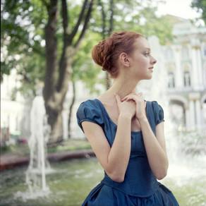 Archive. Beautiful Olga Moskvina in Hermitage.
