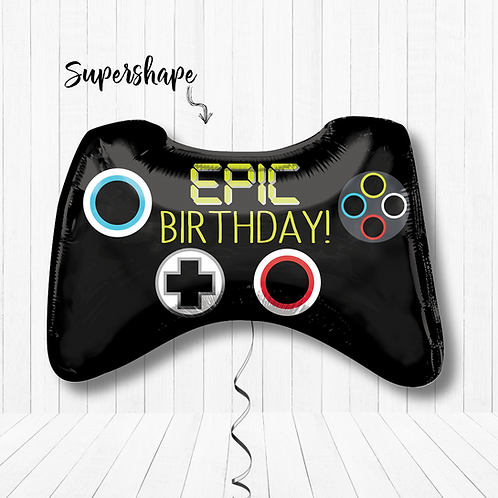 28 Inch Supershape Game Controller Foil Balloon Gaming - Helium-Filled