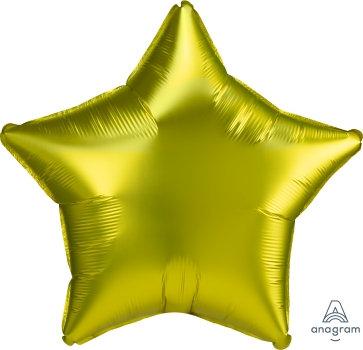 """20"""" Lemon Plain Star Foil Balloon, Matt Finish"""
