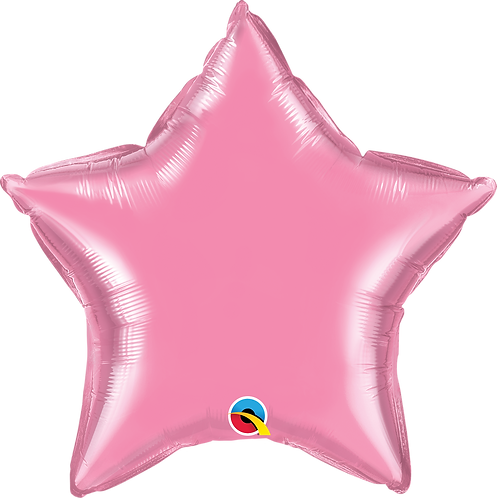 18 Inch Rose Pink Plain Star Foil Balloon