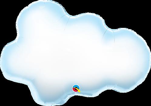 30 Inch Puffy Cloud Supershape Foil Balloon