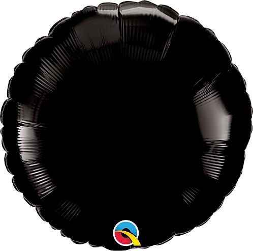 18 Inch Onyx Black Round Foil Balloon