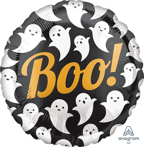 18 Inch Foil Balloon - Halloween BOO Ghosts