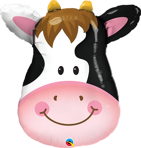32 Inch Contented Cow Supershape Foil Balloon