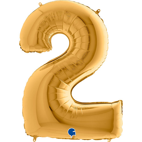 40 Inch Gold Foil Number Balloon