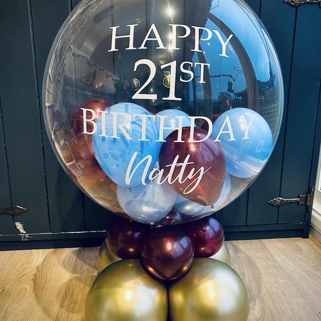 21st Birthday - Aston Villa themed bubbl