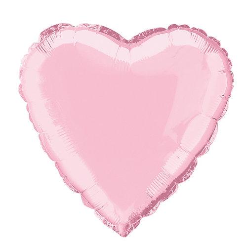18 Inch Pastel Pink Heart Foil Balloon