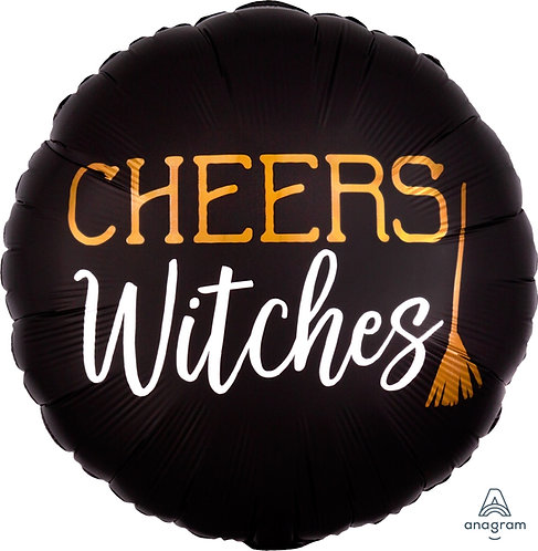18 Inch Foil Balloon - Halloween Cheers Witches Broomstick