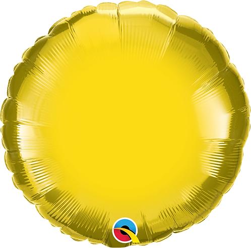 18 Inch Citrine Yellow Round Foil Balloon