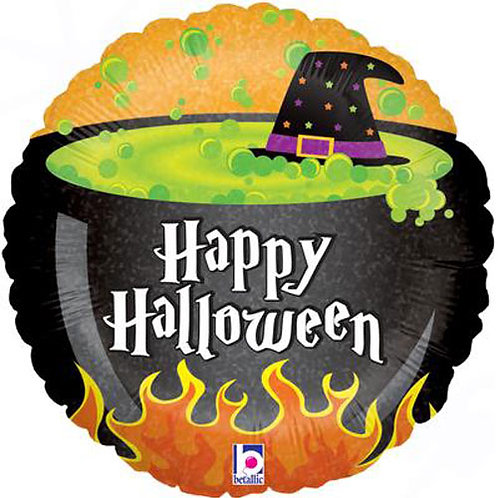 18 Inch Foil Balloon - Halloween Bubbling Cauldron