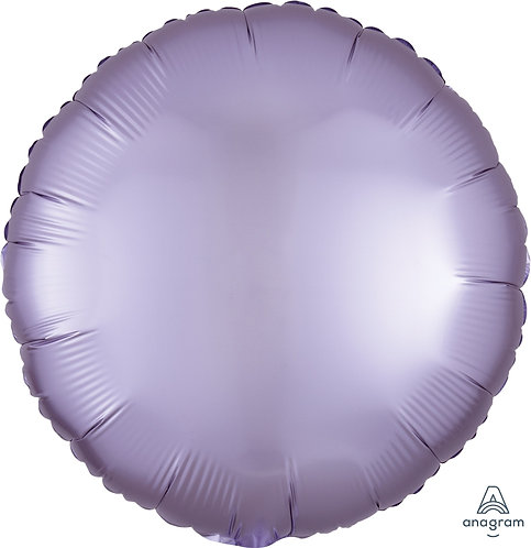 18 Inch Pastel Lilac Round Foil Balloon, Satin Luxe