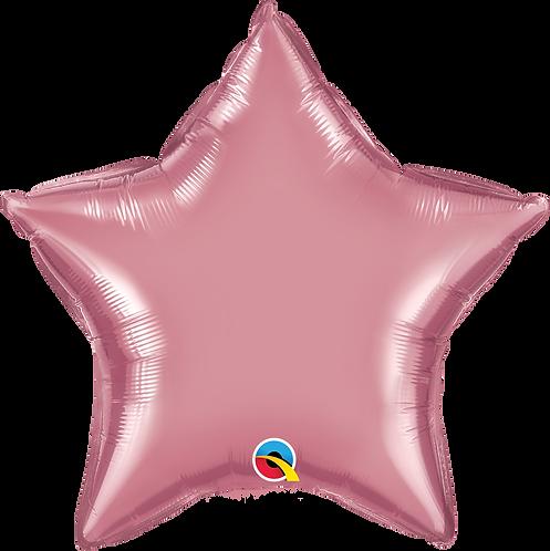 18 Inch Chrome Mauve Star Foil Balloon