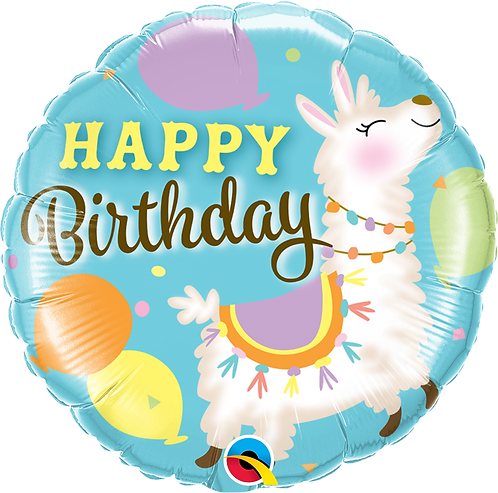 18 Inch Llama Birthday Foil Balloon