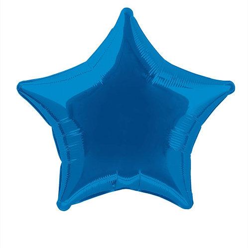 18 Inch Blue Star Foil Balloon