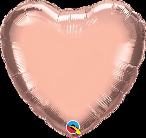 18 Inch Rose Gold Heart Foil Balloon