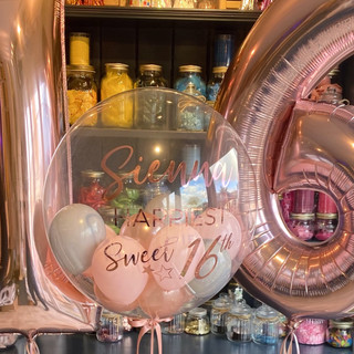 24 Inch Clear Bubble Balloon, Rose gold,
