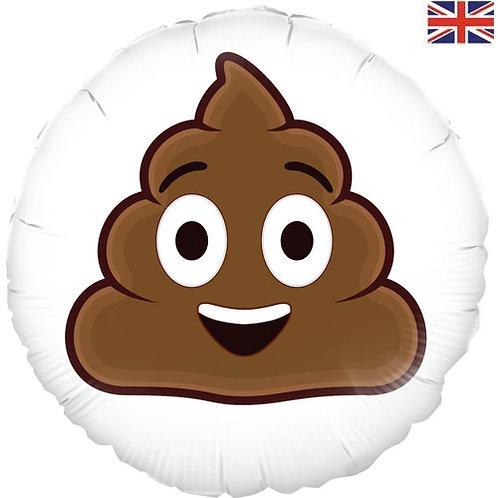 18 Inch Poo Face Emoji Foil Balloon