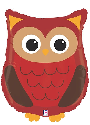 26 Inch Woodland Owl Supershape Foil Balloon
