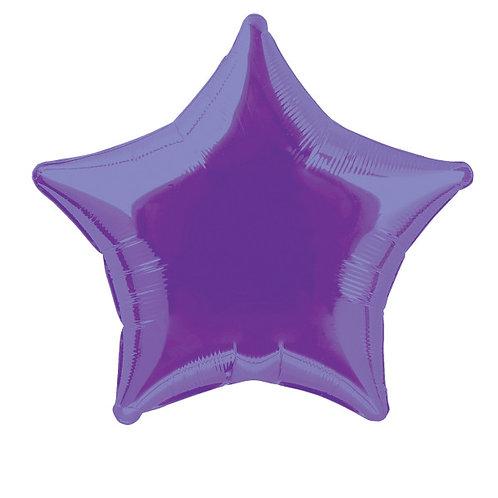 18 Inch Purple Star Foil Balloon