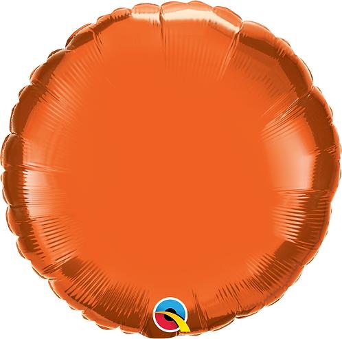 18 Inch Orange Round Foil Balloon
