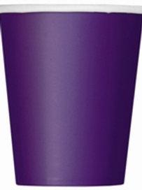 Deep Purple Paper Cups