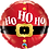 Thumbnail: 18 Inch Microfoil Round Balloon Ho Ho Ho Santa's Belt