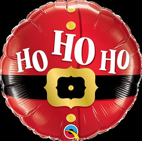 18 Inch Microfoil Round Balloon Ho Ho Ho Santa's Belt