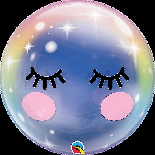 22 Inch Eyelashes Unicorn Bubble Balloon