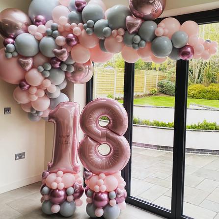 Pink and Grey Luxury Garland and matchin