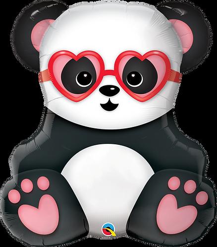32 Inch Lovestruck Panda Bear Supershape Foil Balloon