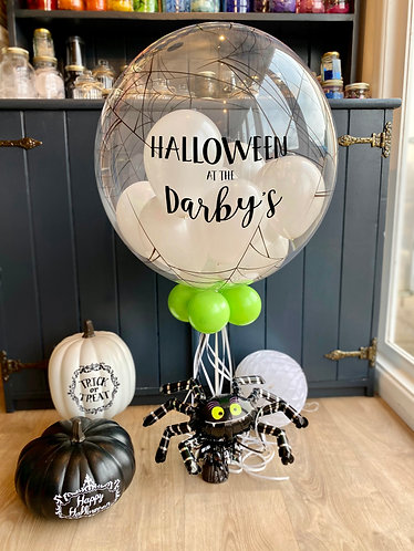 Personalised Spiderweb Bubble Balloon