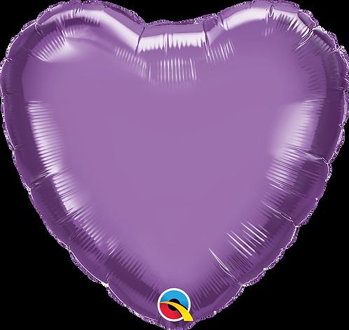 18 Inch Chrome Purple Heart Foil Balloon