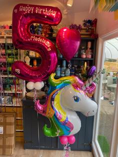 helium package set personalised number f